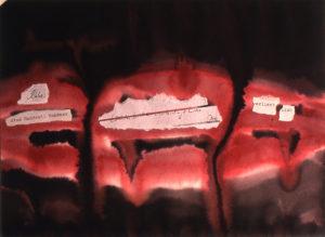 Liebe ist eine handvoll Schmerz-1994-Aquarell-23x31cm