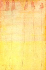 balancierende ungewißheit-1990-Aquarell-25x16cm